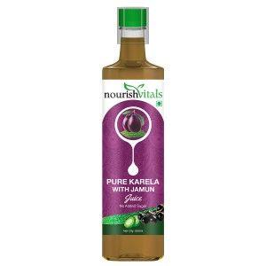 Buy Nourish Vitals Pure Karela With Jamun Juice - Nykaa