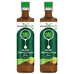 Buy Nourish Vitals Aloe Triphala Plus Juice (Pack Of 2) - Nykaa