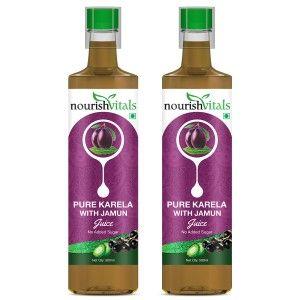 Buy Nourish Vitals Pure Karela With Jamun Juice (Pack Of 2) - Nykaa