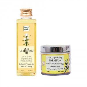 Buy Auravedic Skin Lightening Oil + Formula - Nykaa