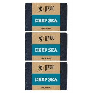 Buy Beardo Deep Sea Brick Soap - 125 gm - Set Of 3 - Nykaa