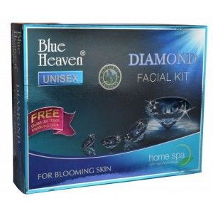 Buy Blue Heaven Diamond Facial Kit + Free Gulab Jal 100ml Inside this Pack - Nykaa