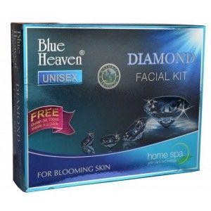 Buy Blue Heaven Diamond Facial Kit + Free Gulab Jal 100ml Inside this Pack - Nykaa