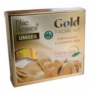 Buy Blue Heaven Gold Facial Kit + Free Fash Wash 60ml Worth Rs 60/- - Nykaa