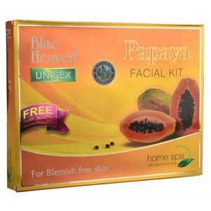 Buy Blue Heaven Papaya Facial Kit +Free Gulab Jal 100ml Inside This Pack - Nykaa