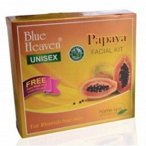Buy Blue Heaven Papaya Facial Kit Free Face Wash Inside This Pack - Nykaa