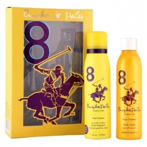 Buy Beverly Hills Polo Club Women's Deodorant And Shower Gel No.8 Gift Set - Nykaa