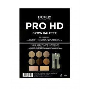Buy Freedom Pro HD Brow Palette Fair Medium - Nykaa