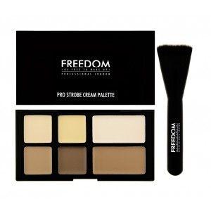 Buy Freedom Pro Studio Strobe Cream Palette with Brush - Nykaa