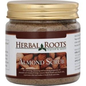 Buy Herbal Roots Skin care 100% Natural Beauty Product - Almond Face And Body Scrub - Nykaa