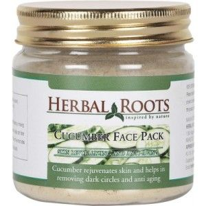 Buy Herbal Roots Anti Ageing Cucumber Face Pack - Nykaa