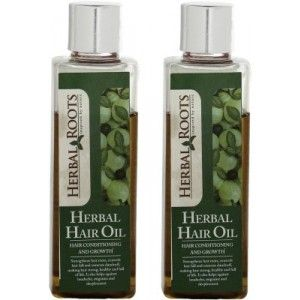 Buy Herbal Roots Anti Hairfall, Dandruff Control and Damage Repair Treatment Hair Oil - Nykaa