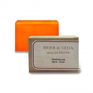 Buy Herb & Veda Malai Kesar Handmade Soap - Nykaa