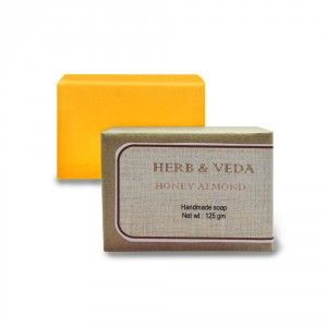 Buy Herb & Veda Honey Almond Handmade Soap - Nykaa