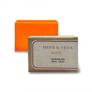 Buy Herb & Veda Peach Handmade Soap - Nykaa