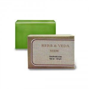 Buy Herb & Veda Neem Handmade Soap - Nykaa