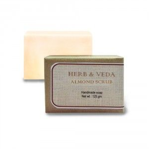 Buy Herb & Veda Almond Handmade Soap - Nykaa