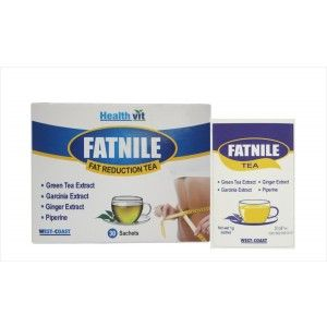 Buy Healthvit Fatnile Fat Reduction Tea Garcinia, Green Tea, Ginger For Natural Weight Loss - Nykaa