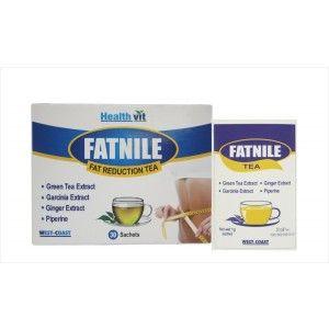 Buy Healthvit Fatnile Fat Reduction Tea Garcinia, Green Tea, Ginger For Natural Weight Loss - Nykaa