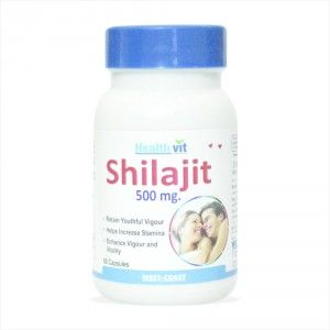 Buy Healthvit Shilajit Increases Stamina And Sexual Health - 60 Capsules - Nykaa