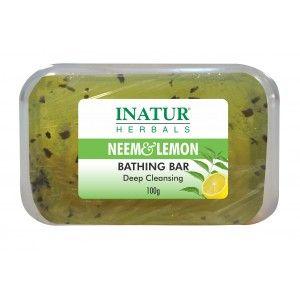 Buy Inatur Neem & Lemon Bathing Bar - Nykaa