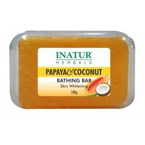 Buy Inatur Papaya & Coconut Bathing Bar - Nykaa