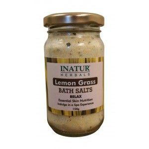 Buy Inatur Lemongrass Bath Salt - Nykaa