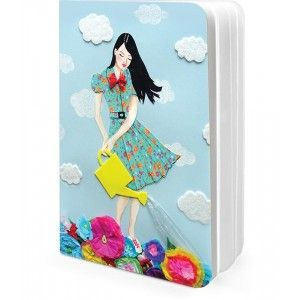 Buy DailyObjects Girl In Flowerland A5 Notebook - Nykaa