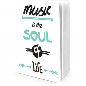 Buy Herbal DailyObjects Music Is The Soul Of Life A5 Notebook - Nykaa