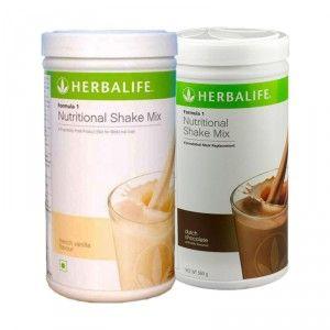 Buy Herbalife Formula 1 Nutritional Shake Mix Dutch Chocolate & French Vanilla - Pack of 2 - Nykaa