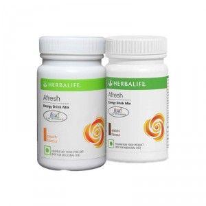 Buy Herbalife Afresh Energy Drink Mix Elaichi & Peach - Pack of 2 - Nykaa