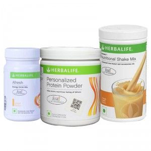 Buy Herbalife Formula 1(Orange) + Personalized Protein Powder and Afresh(Ginger) - Pack of 3 - Nykaa