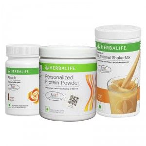 Buy Herbalife Formula 1(Orange) + Personalized Protein Powder and Afresh(Elachi) - Pack of 3 - Nykaa
