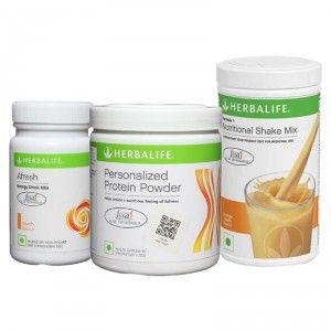 Buy Herbalife Formula 1(Orange) + Personalized Protein Powder and Afresh(Peach) - Pack of 3 - Nykaa