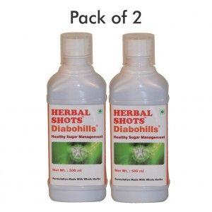 Buy Herbal Hills Diabohills Herbal Shots (Pack of 2) - Nykaa