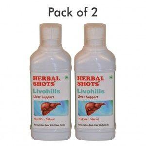 Buy Herbal Hills Livohills Herbal Shots (Pack of 2) - Nykaa