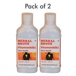 Buy Herbal Hills Vitomanhills Herbal Shots (Pack of 2) - Nykaa