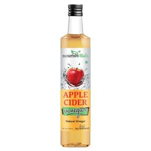 Buy Nourish Vitals Apple Cider Natural Vinegar Pure Filtered - Nykaa