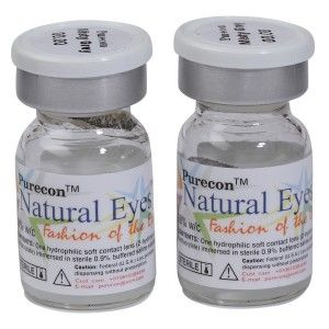 Buy Purecon Natural Eyes Misty Grey Quarterly Disposable Contact Lenses - Nykaa