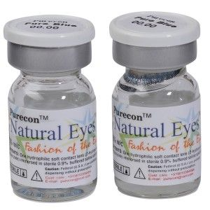 Buy Purecon Natural Eyes Pure Blue Quarterly Disposable Contact Lenses - Nykaa