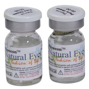 Buy Purecon Natural Eyes Pure Green Quarterly Disposable Contact Lenses - Nykaa
