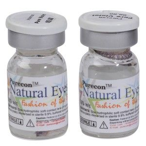 Buy Purecon Natural Eyes Pure Violet Quarterly Disposable Contact Lenses - Nykaa