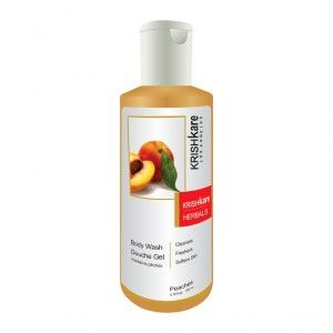 Buy Krishkare Peaches Body Wash Douche Gel - Nykaa