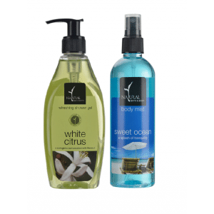Buy Natural Bath & Body White Citrus Refreshing Shower Gel And Sweet Ocean Body Mist Combo - Nykaa