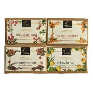 Buy Natural Bath & Body Rose And Almond + Honey Mandarin + Creamy Cocoa + Minty Lemon Bathing Bar Combo - Nykaa