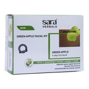 Buy Sara Green Apple Facial Kit - Nykaa