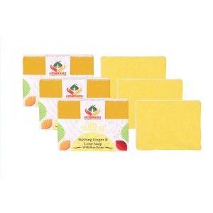 Buy Satveda Nutmeg Ginger Lime Soap Pack Of 3 - Nykaa