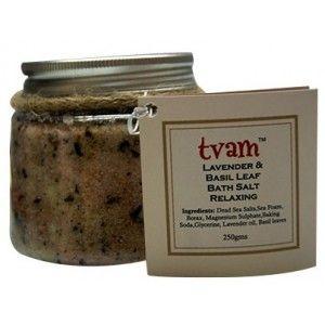 Buy TVAM Lavender & Basil Bath Salt - Nykaa