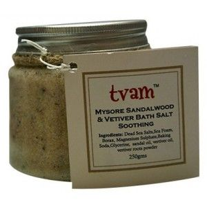 Buy TVAM Mysore Sandal & Vetiver Bath Salt - Nykaa