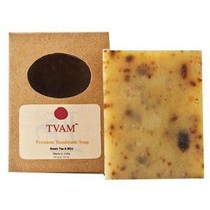 Buy TVAM Green Tea & Mint Handmade Soap - Nykaa